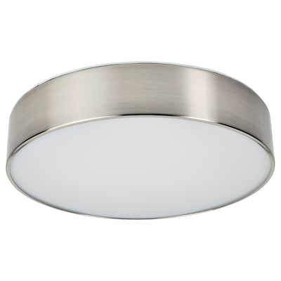 VIRRMO LED ceiling lamp, nickel-plated, 37 cm 800 lm