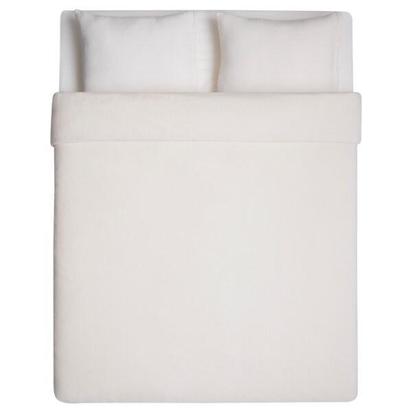 VITGRÖE quilt cover and 2 pillowcases white 2 pack 200 cm 200 cm 50 cm 60 cm