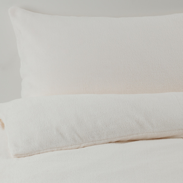 VITGRÖE Quilt cover and pillowcase, white, 150x200/50x60 cm