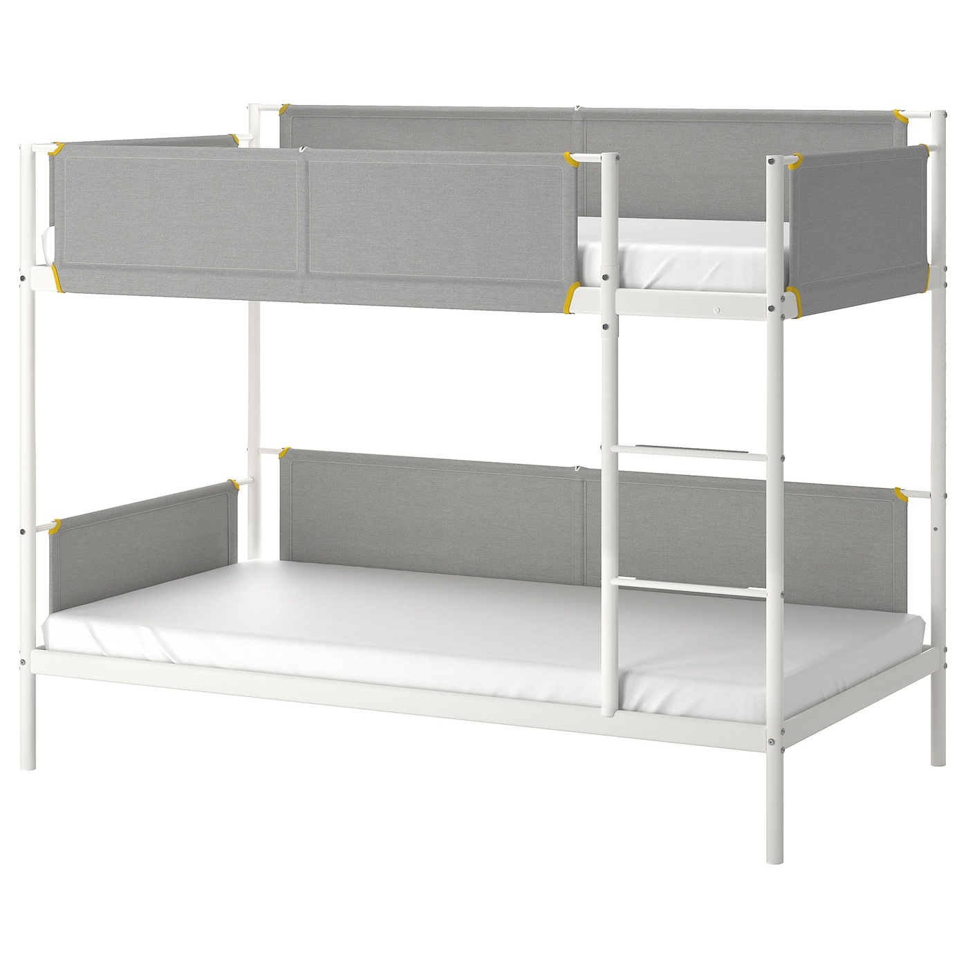 Bunk Bed Frame White Light Grey