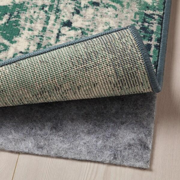 VONSBÄK Rug, low pile, green, 170x230 cm