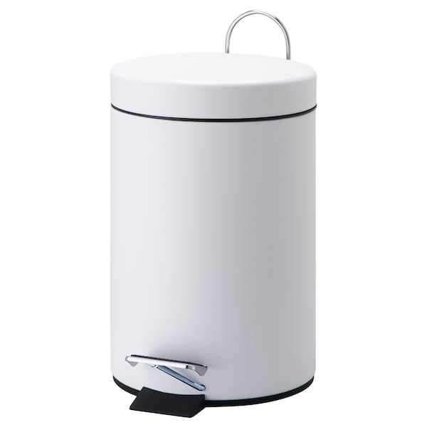VORGOD Pedal bin, white, 3 l