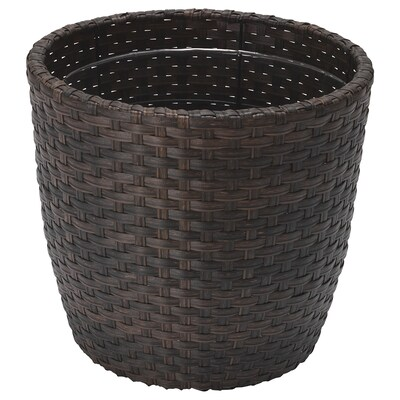 WOKKRYDDA Plant pot, in/outdoor brown, 24 cm