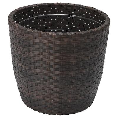 WOKKRYDDA Plant pot, in/outdoor brown, 24 cm