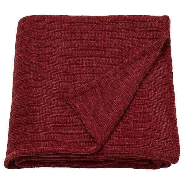 YLVALI Throw, brown-red, 130x170 cm