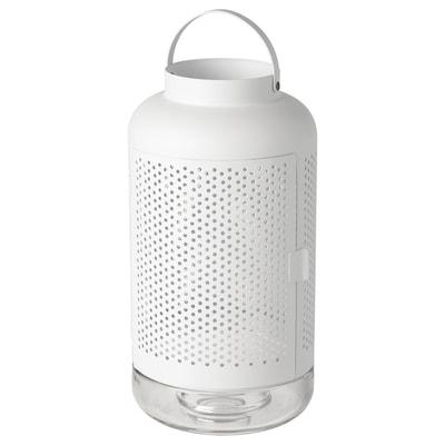 ÄDELHET イェデルヘート ブロックキャンドル用ランタン, ホワイト, 40 cm