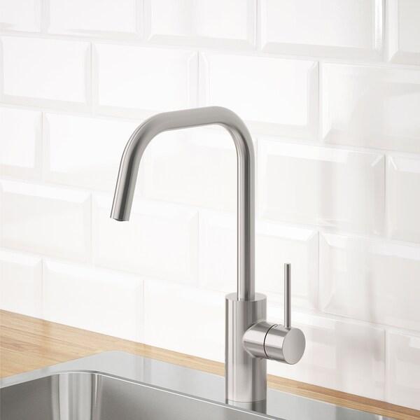 エルマーレン キッチン混合栓 ステンレスカラー 36 cm