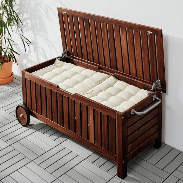 IKEA エップラロー 収納ベンチ 屋外用