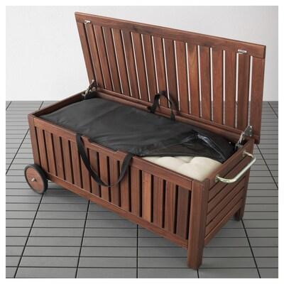 エップラロー / トステロー ベンチ 収納バッグ付き 屋外用, ブラウンステイン, 128x57x55 cm
