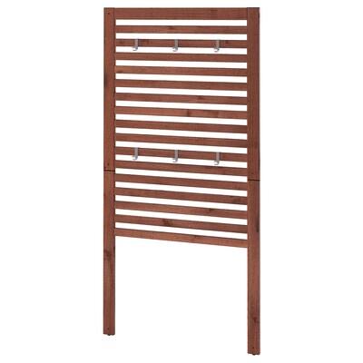 ÄPPLARÖ エップラロー ウォールパネル 屋外用, ブラウンステイン, 80x158 cm
