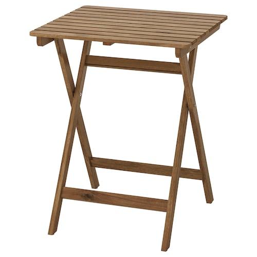 アスクホルメン テーブル 屋外用 折りたたみ式 ライトブラウンステイン 62 cm 60 cm 73 cm