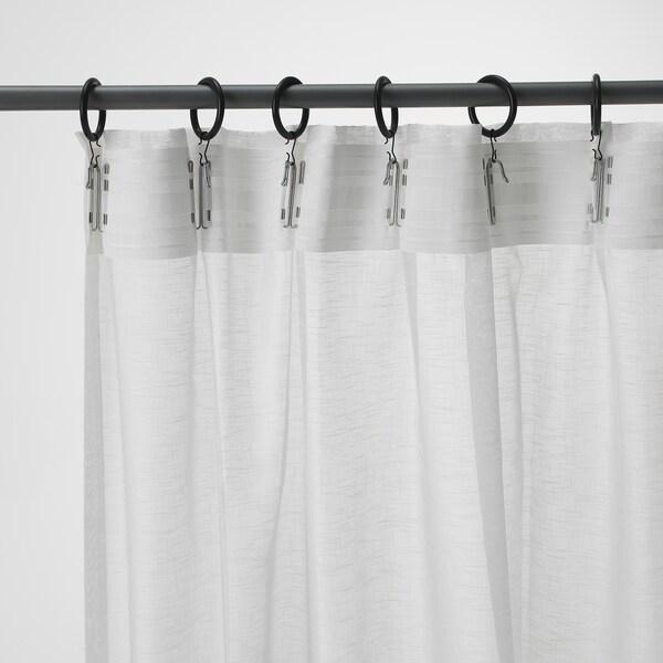 アスククロッカ シアーカーテン1組, ホワイト, 145x250 cm