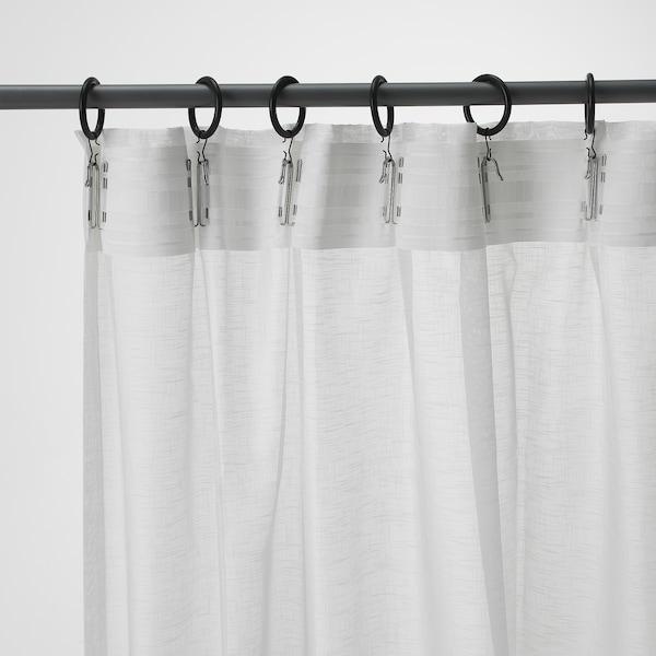 ASKKLOCKA アスククロッカ シアーカーテン1組, ホワイト, 145x250 cm