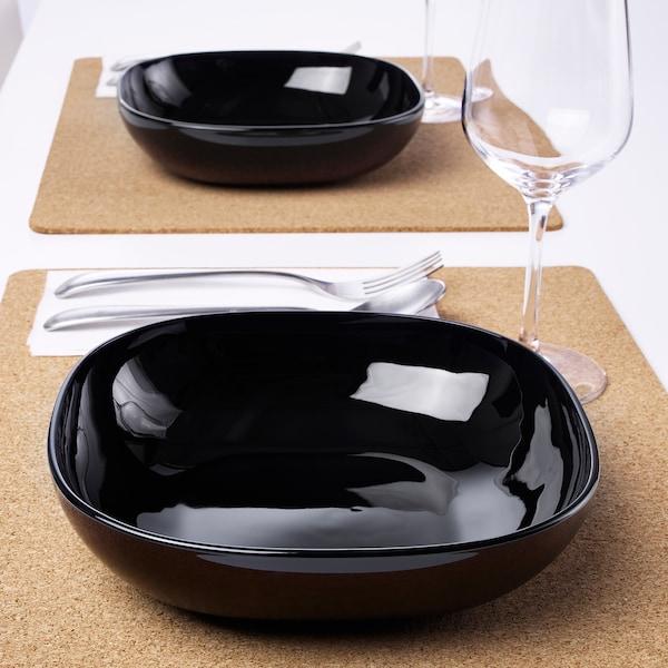 BACKIG バッキグ 深皿, ブラック, 20x20 cm