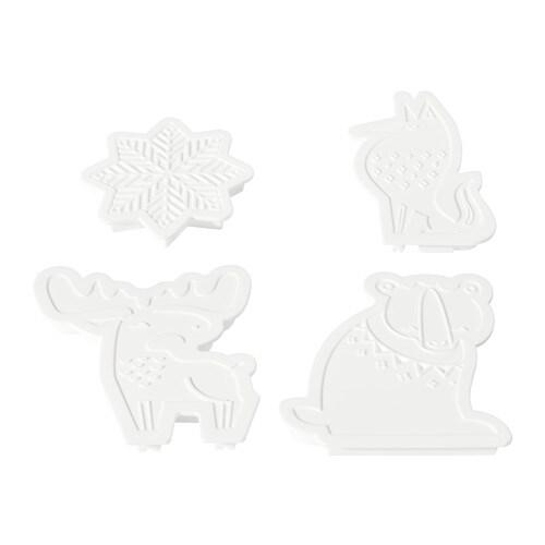 BAKGLAD クッキー型4個セット IKEA