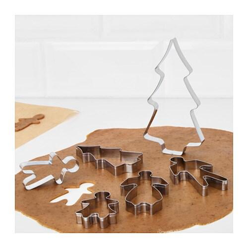 BAKGLAD クッキー型6個セット IKEA