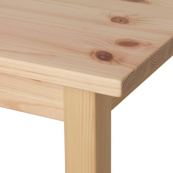 BATTERN バッテルン テーブル, パイン材 クリア, 105x50 cm