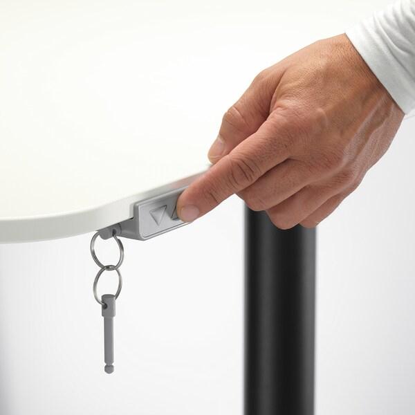 BEKANT ベカント コーナーデスク 右 電動昇降式, ホワイト/ブラック, 160x110 cm