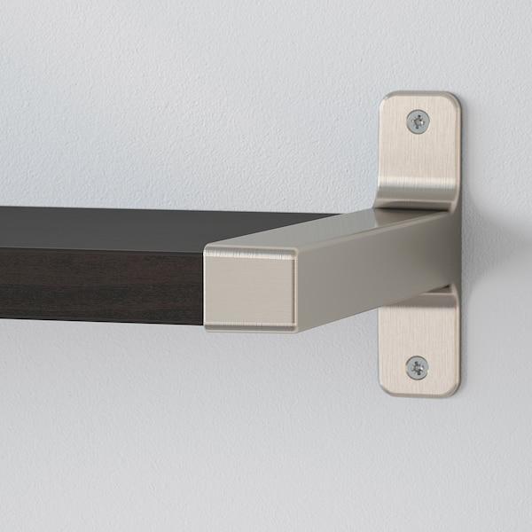 BERGSHULT ベリスフルト / GRANHULT グランフルト ウォールシェルフコンビネーション, ブラウンブラック/ニッケルメッキ, 80x20 cm