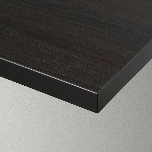 BERGSHULT ベリスフルト / PERSHULT ペルスフルト ウォールシェルフ, ブラウンブラック/ホワイト, 80x30 cm