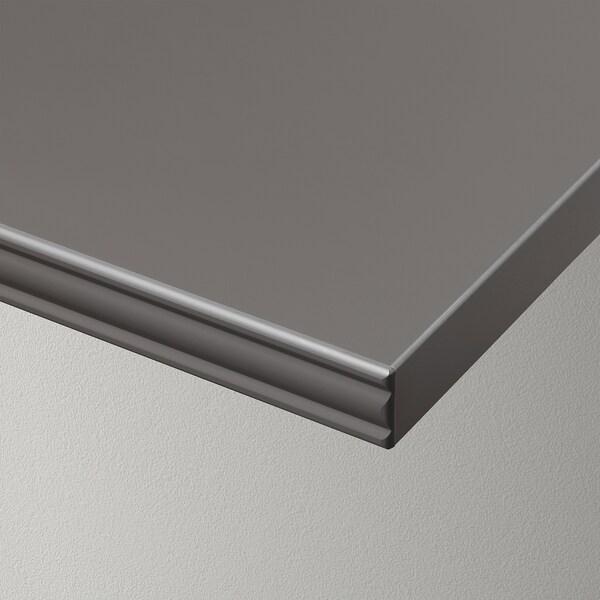 BERGSHULT ベリスフルト / PERSHULT ペルスフルト ウォールシェルフ, ダークグレー/ホワイト, 120x30 cm