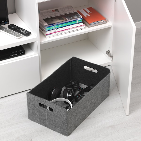 BESTÅ ベストー ボックス, グレー, 32x51x21 cm