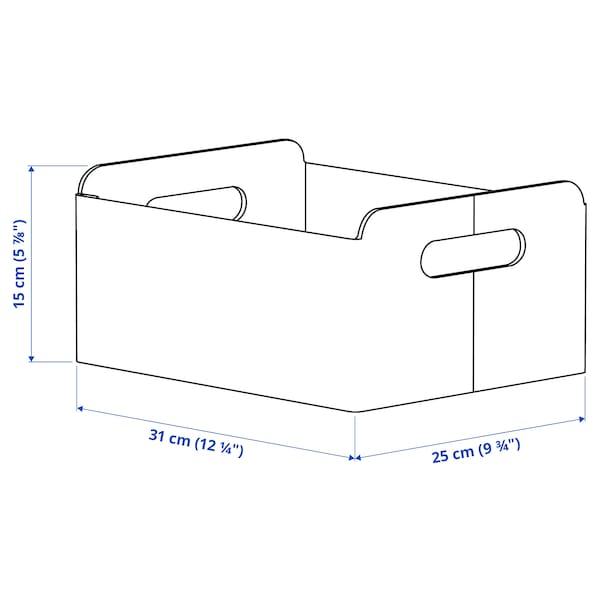 BESTÅ ベストー ボックス, グレー, 25x31x15 cm