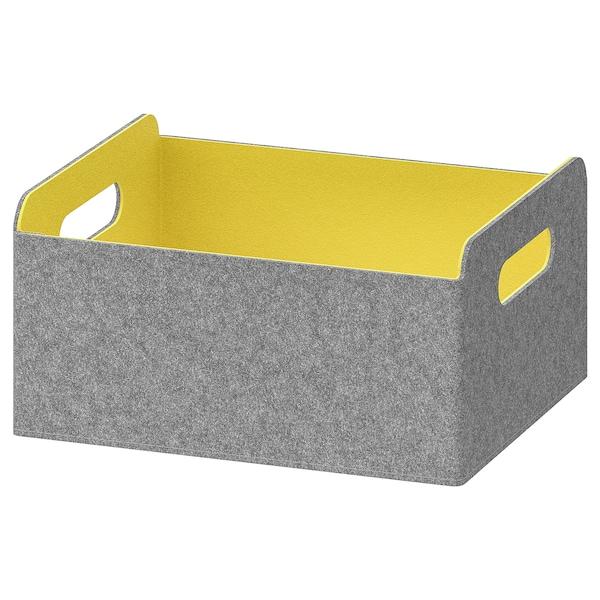 BESTÅ ベストー ボックス, イエロー, 25x31x15 cm