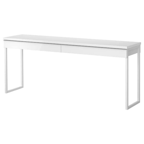 BESTÅ BURS ベストー ブルシュ デスク, ハイグロス/ホワイト, 180x40 cm