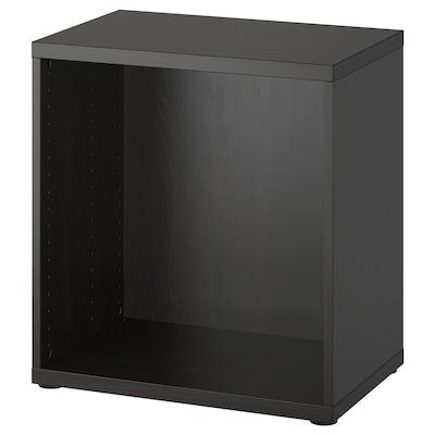 BESTÅ ベストー フレーム, ブラックブラウン, 60x40x64 cm