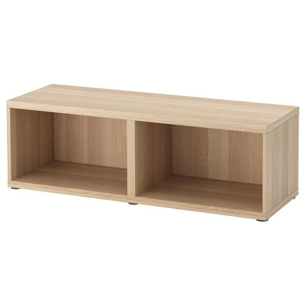 BESTÅ ベストー フレーム, ホワイトステインオーク調, 120x40x38 cm