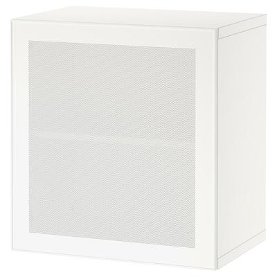 BESTÅ ベストー シェルフユニット 扉付, ホワイト/モルトヴィーケン ホワイト, 60x42x64 cm