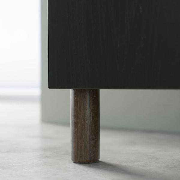 BESTÅ ベストー テレビ台, ブラックブラウン シンドヴィーク/ラップヴィーケン/メヤルプ ライトグレー/ベージュ, 180x42x48 cm
