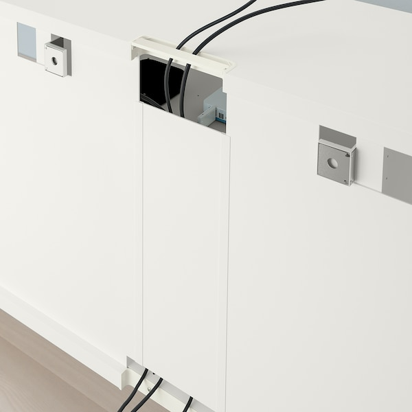 BESTÅ ベストー テレビ台, ホワイト, 180x40x64 cm