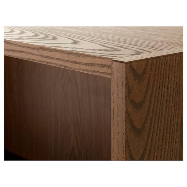 BILLY ビリー 本棚, ブラウン アッシュ材突き板, 160x28x202 cm