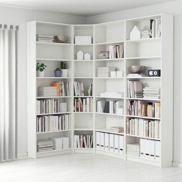 BILLY ビリー 本棚, ホワイト, 215/135x28x237 cm
