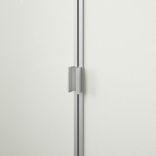 BILLY ビリー / MORLIDEN モールリーデン 本棚 ガラス扉付き, ホワイトステインオーク材突き板/ガラス, 80x30x202 cm