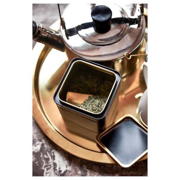 BLOMNING ブロムニング コーヒー/紅茶用の缶, 10x10x10 cm