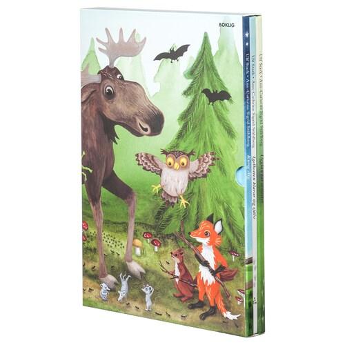 IKEA ボークリグ 本3冊セット 王さまのエルク、フクロウ先生、はりねずみくん