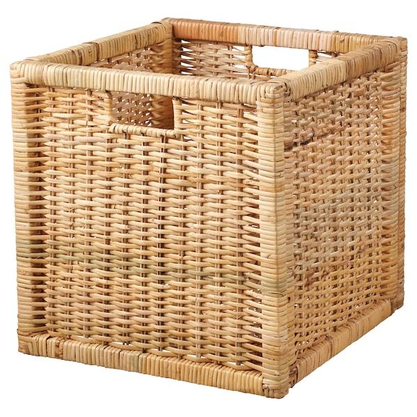 BRANÄS ブラネース バスケット, 籐, 32x34x32 cm