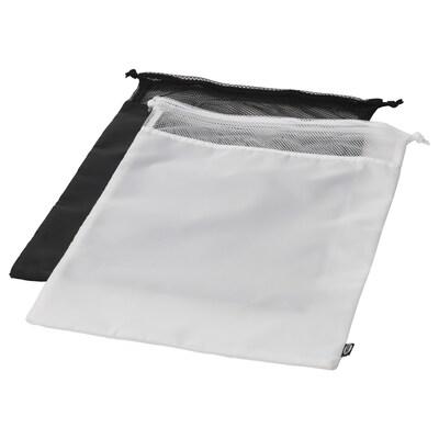 BRODERLIG ブローデルリグ ランドリーバッグ, ブラック/ホワイト, 34x50 cm