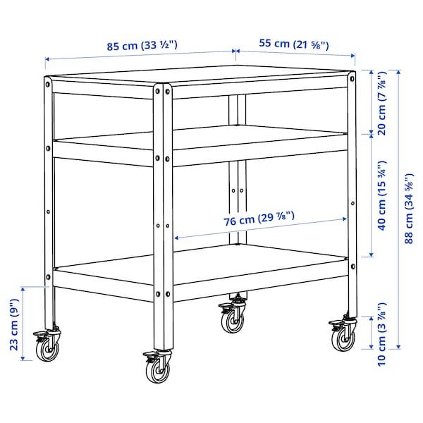 BROR ブロール ワゴン, ブラック/パイン材合板, 85x55 cm