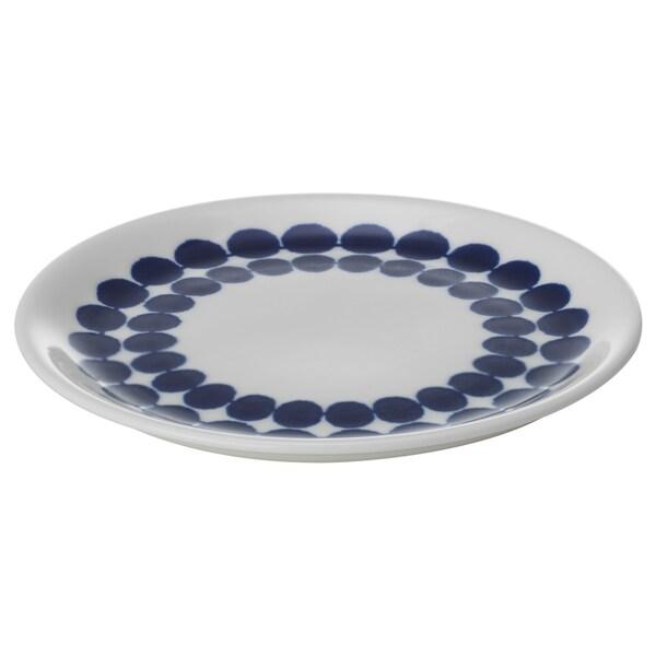 BRUSANDE ブルサンデ サイドプレート, ブルー/ホワイト, 15 cm