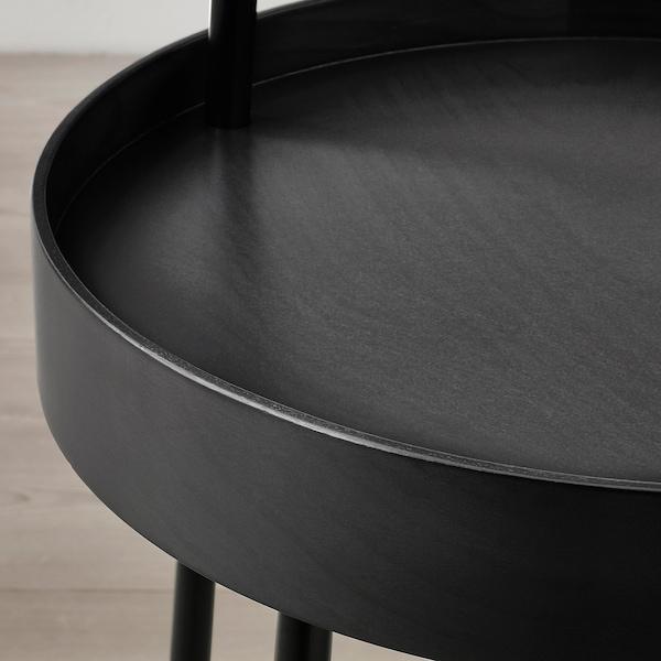 BURVIK ブールヴィーク サイドテーブル, ブラック, 38 cm