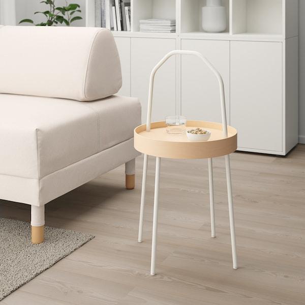 BURVIK ブールヴィーク サイドテーブル, ホワイト, 38 cm