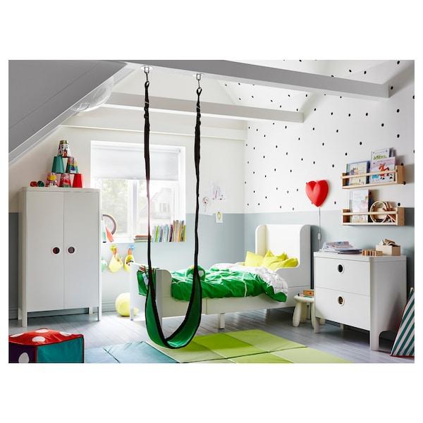 BUSUNGE ブースンゲ 伸長式ベッド, ホワイト, 80x200 cm