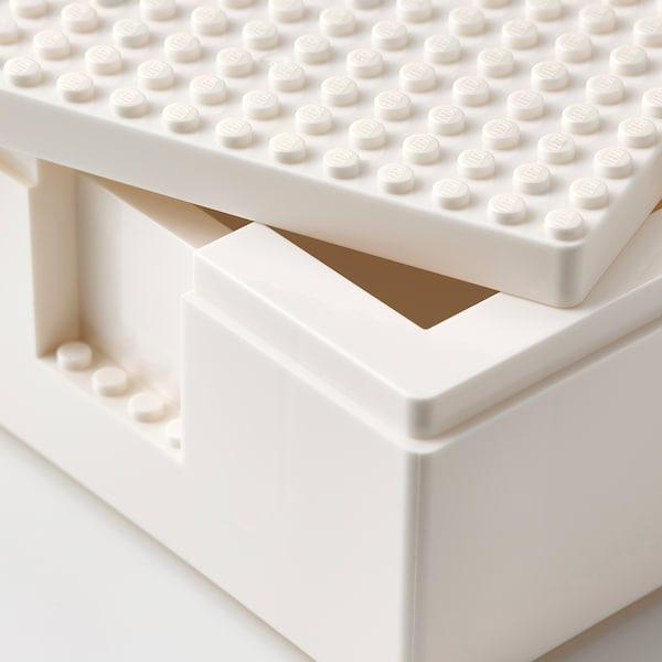 BYGGLEK ビッグレク レゴ®ボックス ふた付き 3点セット, ホワイト