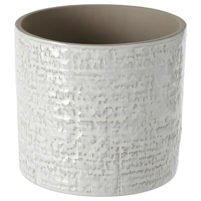 CHIAFRÖN シーアフローン 鉢カバー, 室内/屋外用 ホワイト, 12 cm