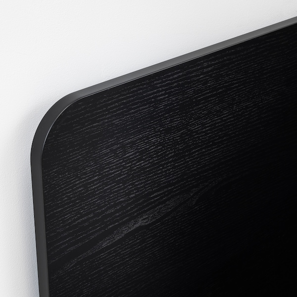 DELAKTIG デラクティグ ヘッドボード, ブラック, 160 cm