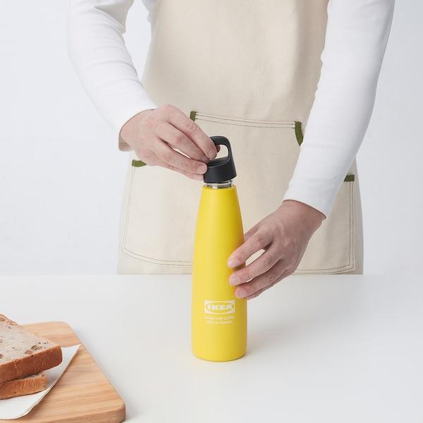 EFTERTRÄDA エフテルトレーダ スチール製魔法瓶, イエロー, 0.5 l